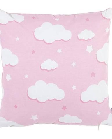 Ružová bavlnená obliečka na vankúš Mike&Co.NEWYORK Skies, 35 x 35 cm