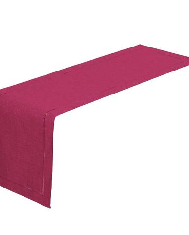 Fuchsiovo-ružový behúň na stôl Unimasa, 150 x 41 cm