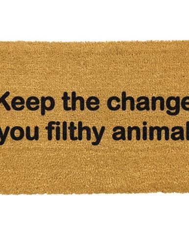 Rohožka z prírodného kokosového vlákna Artsy Doormats Keep The Change, 40 x 60 cm