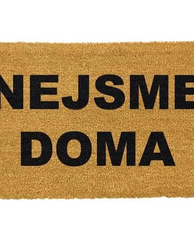 Rohožka z prírodného kokosového vlákna Artsy Doormats Nejsme doma, 40 x 60 cm