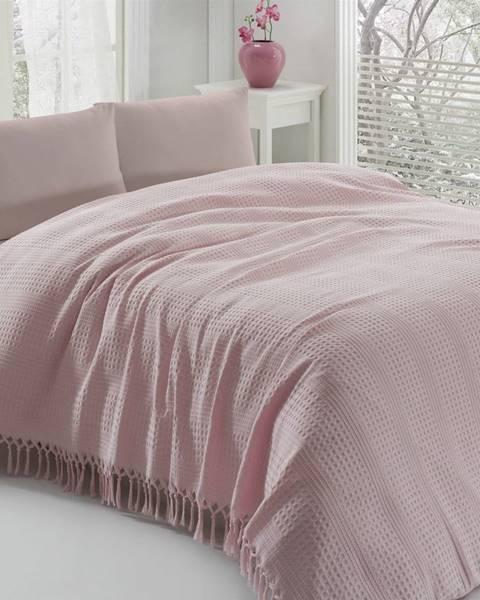 Şaheser Ľahká bavlnená prikrývka cez posteľ Pique Powder, 220 × 240 cm