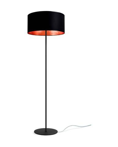 Čierno-medená stojacia lampa Sotto Luce Mika, ⌀ 40 cm