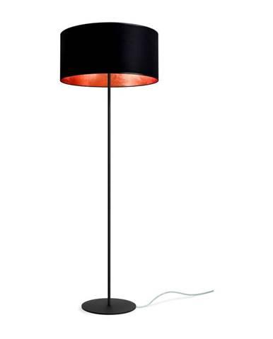 Čierno-medená stojacia lampa Sotto Luce MIKA Elementary Xl 1F