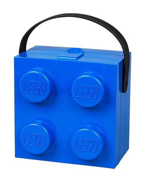 LEGO® Modrý úložný box s rukoväťou LEGO®