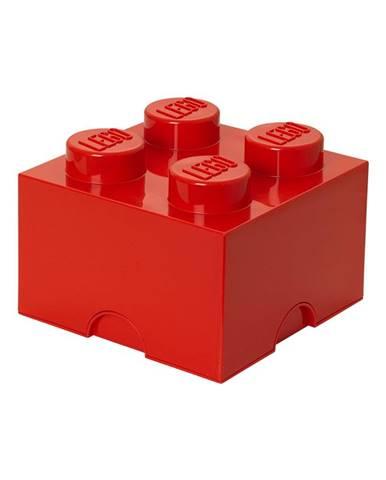 Červený úložný box štvorec LEGO®