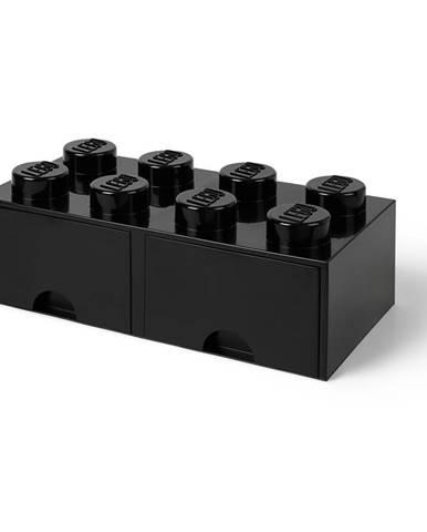 Čierny úložný box s dvoma zásuvkami LEGO®