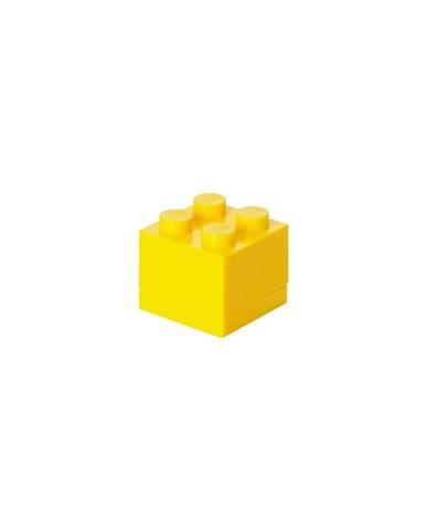 Žltý úložný box LEGO® Mini Box
