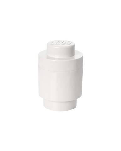 Biely úložný okrúhly box LEGO®, ⌀ 12,5 cm
