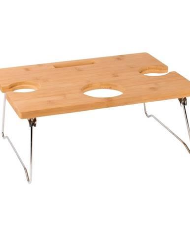 Prenosný bambusový stolík na víno Navigate Summerhouse, 38 cm x 17 cm x 28 cm