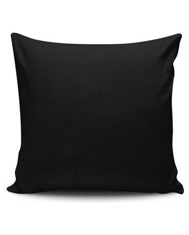 Čierna obliečka na vankúš Riva, 45 x 45 cm