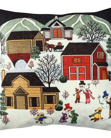 Vankúš Winter Village, 43 x 43 cm