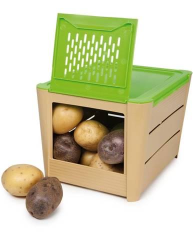 Hnedo-zelený úložný box na zemiaky Snips Potatoes
