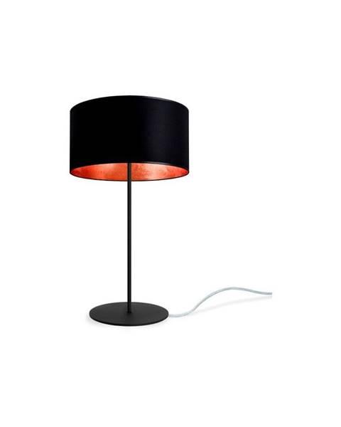 Sotto Luce Čierno-medená stolová lampa Sotto Luce MIKA M 1T