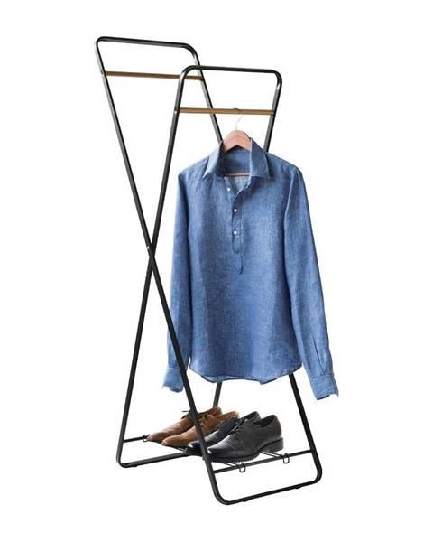 Compactor Stojan na oblečenie s poličkou Compactor Noir Shape
