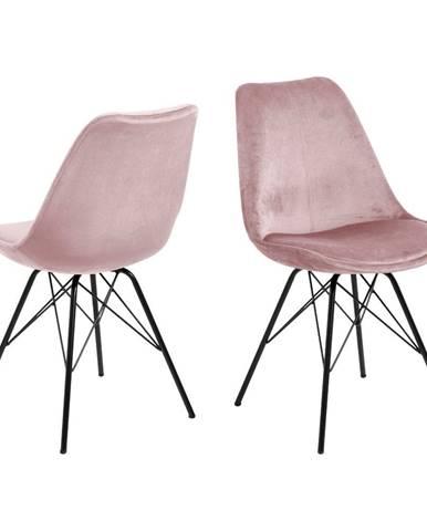 Ružová jedálenská stolička Actona Eris