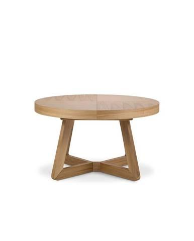 Rozkladací stôl s nohami z dubového dreva Windsor & Co Sofas Bodil, ø 130 cm
