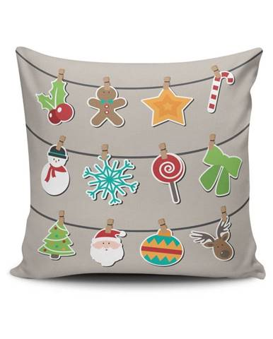Vankúš Christmas Time, 45×45 cm