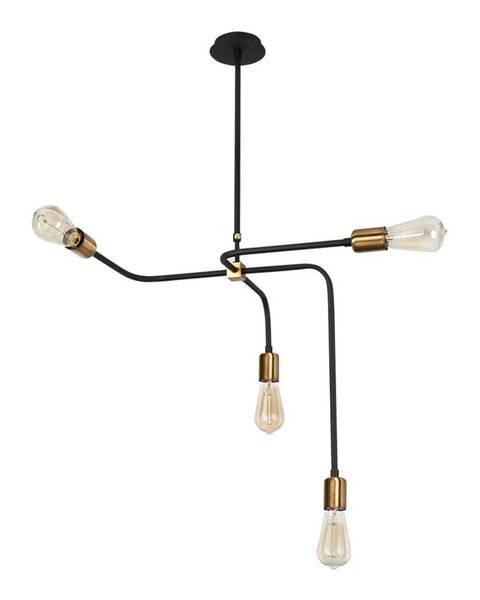 Opviq lights Čierne kovové závesné svietidlo Opviq lights Iris