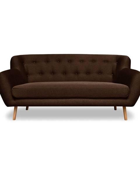 Cosmopolitan Design Hnedá pohovka Cosmopolitan design London, 162 cm