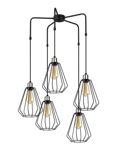 Čierne kovové závesné svietidlo Opviq lights Nestros