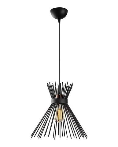Čierne kovové závesné svietidlo Opviq lights Rosalia