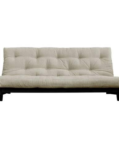 Rozkladacia pohovka s ľanovým poťahom Karup Design Fresh Black/Linen