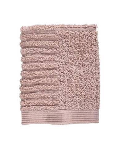 Svetloružový uterák zo 100 % bavlny na tvár Zone Classic, 30×30 cm