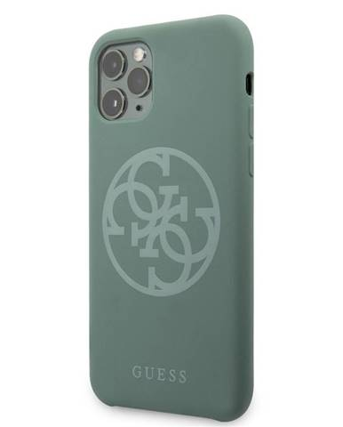 Kryt na mobil Guess 4G Silicone Tone na iPhone 11 Pro zelený