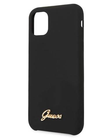 Kryt na mobil Guess Silicone Vintage na iPhone 11 Pro čierny