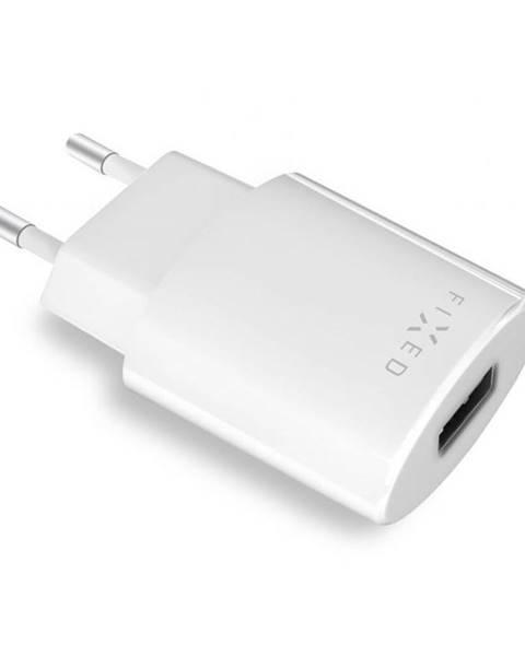 FIXED Nabíjačka do siete Fixed 1x USB, 2,4A biela