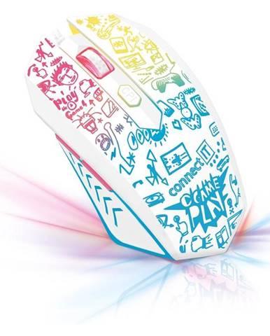 Myš  Connect IT Doodle biela