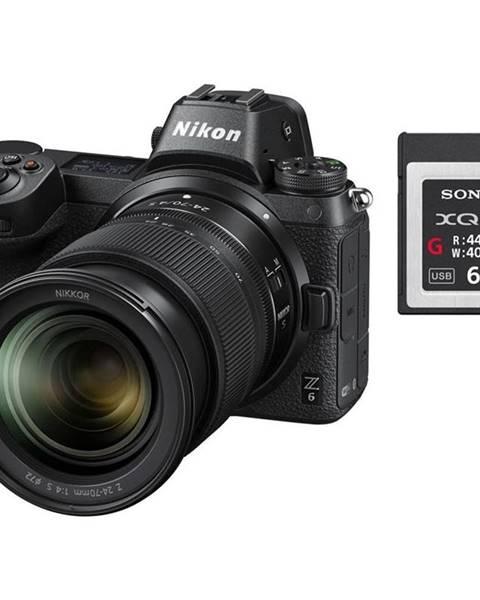 Nikon Digitálny fotoaparát Nikon Z6 + 24-70 + 64 GB XQD karta čierny