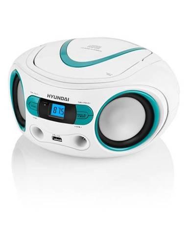 Rádioprijímač s CD Hyundai TRC 533 Au3wbl biely/modr