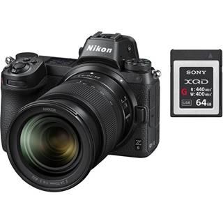 Digitálny fotoaparát Nikon Z6 + 24-70 + 64 GB XQD karta čierny