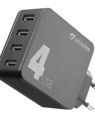 Nabíjačka do siete CellularLine Multipower 4, Smartphone Detect, 4