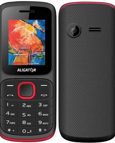 Mobilný telefón Aligator D210 Dual SIM čierny/červený