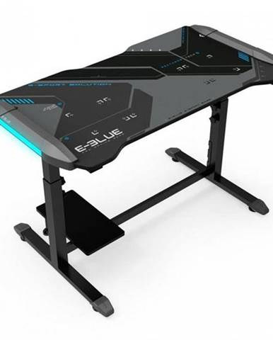 Herný stôl E-Blue 113 x 59,5cm, podsvícený, nastavitelná výška