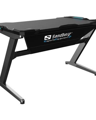 Herný stôl Sandberg Fighter Gaming Desk sivý