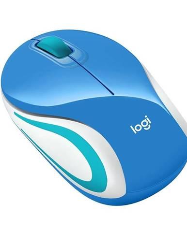 Myš  Logitech Wireless Mini MoM187 modrá / optická / 3 tlačítka