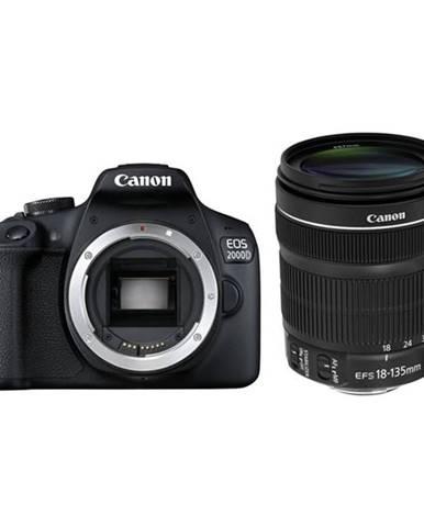 Digitálny fotoaparát Canon EOS 2000D + 18-135 IS STM čierny