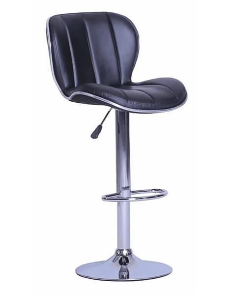 Kondela Barová stolička čierna/chrómovaná DUENA