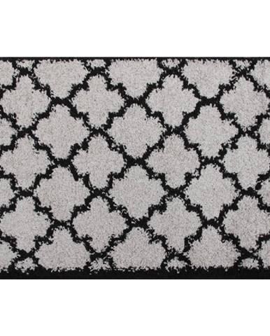 Koberec sivá/čierna 133x190 TATUM TYP 2