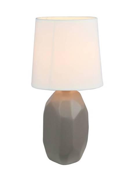 Tempo Kondela Keramická stolná lampa sivohnedá taupe QENNY TYP 3 AT15556