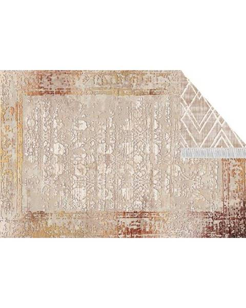 Kondela Obojstranný koberec béžová/vzor 80x150 NESRIN