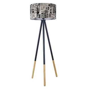 Stojacia lampa čierny kov/látka CINDA TYP 6 YF6253