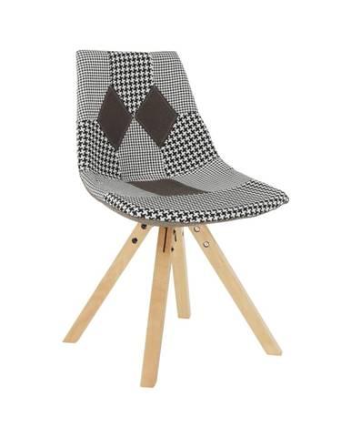 Dizajnová stolička látka patchwork PEPITO NEW TYP 10 rozbalený tovar