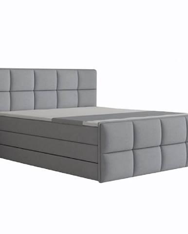 Komfortná posteľ sivá látka 160x200 RAVENA KOMFORT