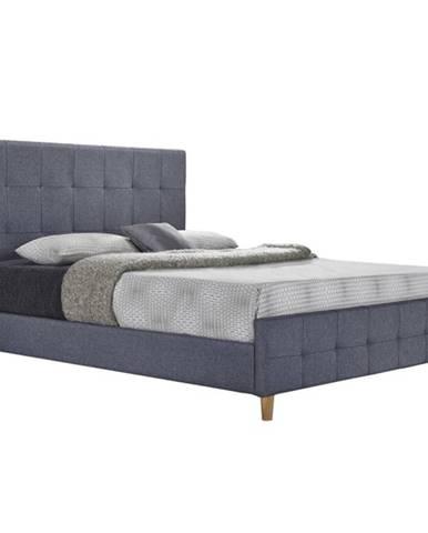 Manželská posteľ sivá 160x200 BALDER NEW