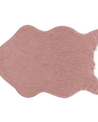 Umelá kožušina ružová/zlatoružová 60x90 FOX TYP 3