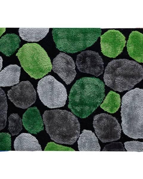 Tempo Kondela Koberec zelená/sivá/čierna 120x180 PEBBLE TYP 1